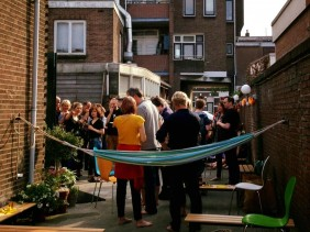 Openingparty outside